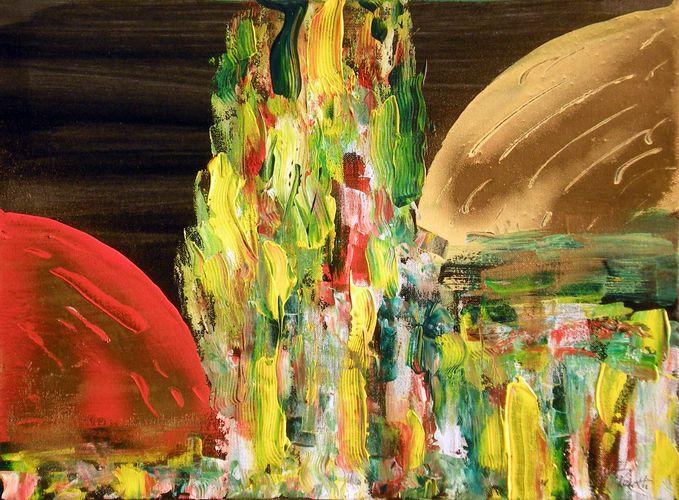 Effige del sacro 73, tecnica mista, 2010, 30x40, propr. giovanni frattoloni, torino