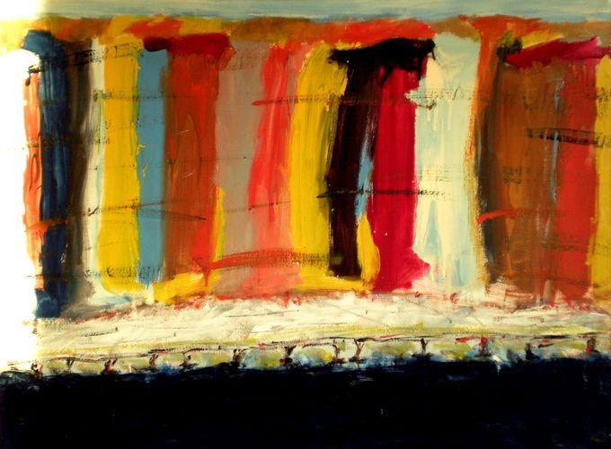 Piano ravvicinato, smalto su tela, 1988, 80x60, propr. giovanni frattoloni, torino