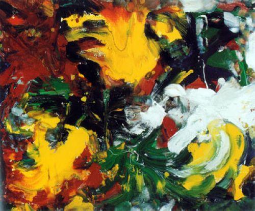 Forze naturali, 1978, 100x100, smalto su tela