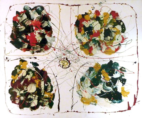 Quadripartito, 100x90, smalto su tela, 1993, propr. bruno capocaccia