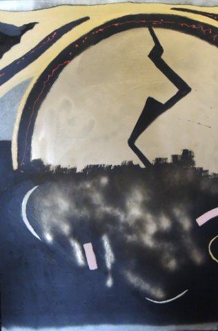 black time 150 x 100 smalto su tela 2012